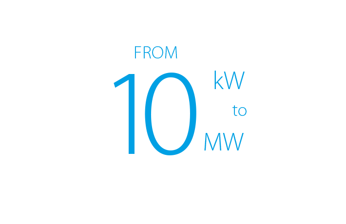 From 10kw to 10mw